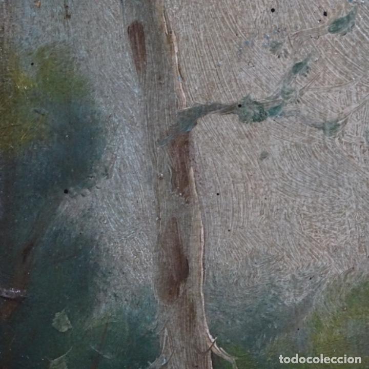 Arte: Óleo sobre cartón Ilegible escuela olotina, circulo vayreda.siglo xix. - Foto 9 - 209368265