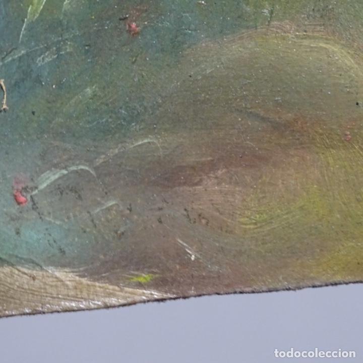 Arte: Óleo sobre cartón Ilegible escuela olotina, circulo vayreda.siglo xix. - Foto 12 - 209368265