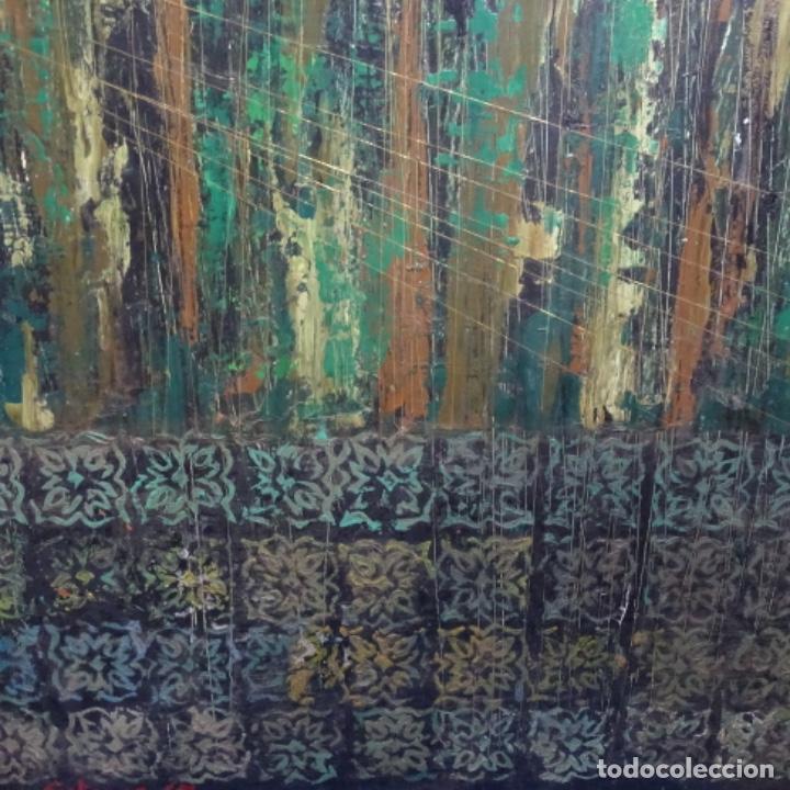 Arte: Gran oleo sobre tabla firmado sotepas 67.vi concurso pintura Terrassa. - Foto 3 - 209390975