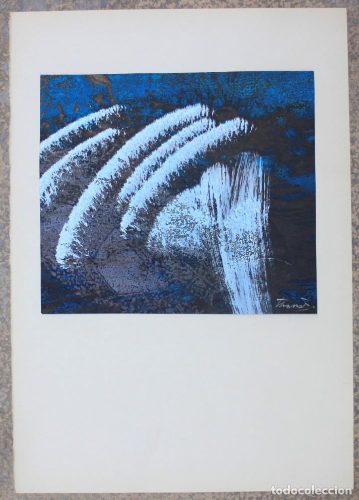 JOAN JOSEP THARRATS, PINTURA ABSTRACTA SOBRE CARTULINA, TÉCNICA MIXTA, FIRMADA. 29X25CM (Arte - Pintura - Pintura al Óleo Contemporánea )