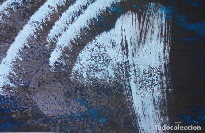 Arte: Joan Josep Tharrats, pintura abstracta sobre cartulina, técnica mixta, firmada. 29x25cm - Foto 2 - 209647638