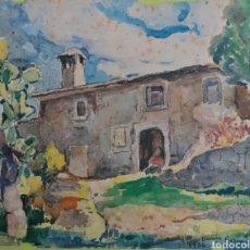 Arte: DIONIS BENNASSAR. 2 ACUARELAS DEL CAVALL BERNAT MALLORCA Y POSSESIO MALLORQUINA FECHADO 1936.. Lote 209670417