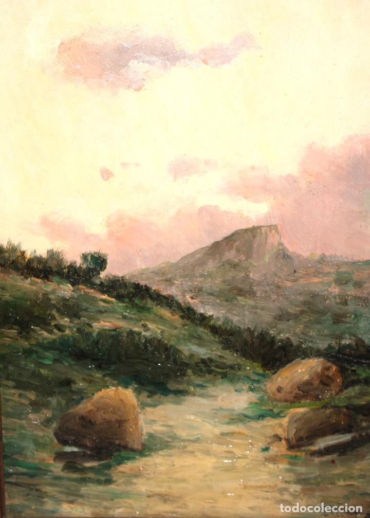 AUTORIA DESCONOCIDA DE APROXIMADAMENTE 1900. OLEO SOBRE TABLA. PAISAJE (Arte - Pintura - Pintura al Óleo Contemporánea )