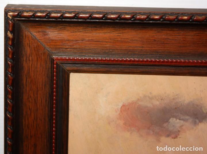 Arte: AUTORIA DESCONOCIDA DE APROXIMADAMENTE 1900. OLEO SOBRE TABLA. PAISAJE - Foto 7 - 209724507