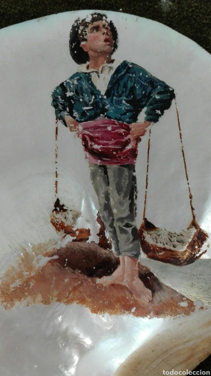 Arte: Óleo sobre concha - Foto 2 - 209735932
