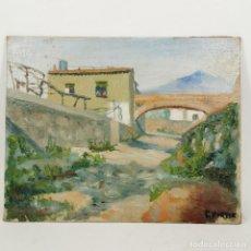 Art: ANTIGUA PINTURA AL ÓLEO - RIERA D'HORTA - AÑO 1958 - FIRMADA C. PORTER. Lote 209784301