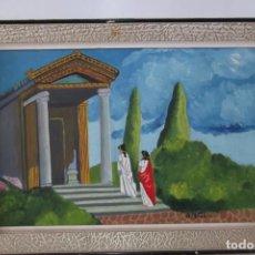 Arte: ¡¡ PINTURA, LA ANTIGUA GRECIA, OLEO SOBRE TABLA, FIRMADO !!. Lote 209822937