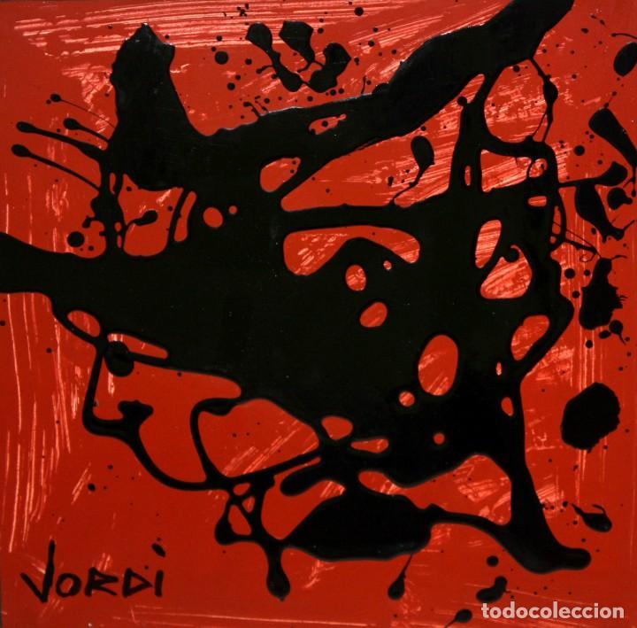 JORDI MERCADE FARRÉS (BARCELONA,1923 - 2005) ACRILICO SOBRE CARTON. ABSTRACCION (Arte - Pintura - Pintura al Óleo Contemporánea )