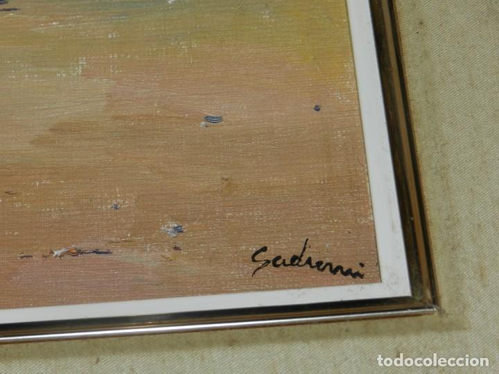 Arte: (M) PAISAJE DE PLAYA, ÓLEO SOBRE LIENZO FIMADO SADURNÍ, ENMARCADO - Foto 2 - 209995528