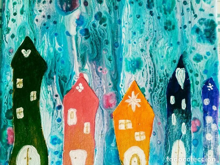 ALDEA DE COLORES (Arte - Pintura Directa del Autor)