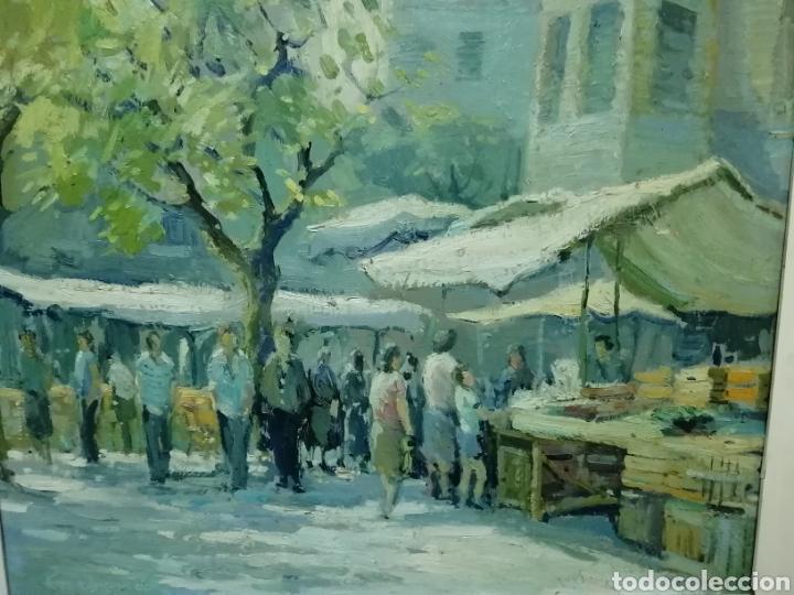 Arte: Bonito cuadro de un mercado - Foto 2 - 210013327