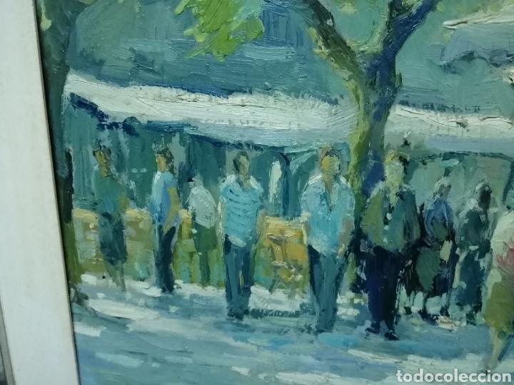Arte: Bonito cuadro de un mercado - Foto 6 - 210013327