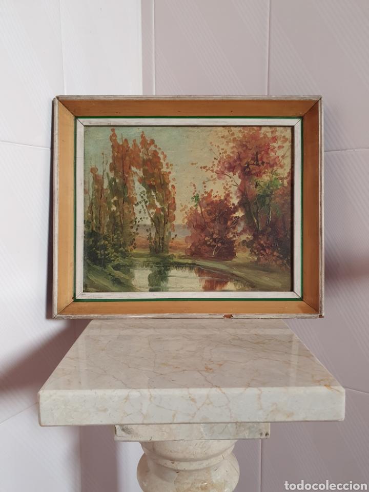VIEJO CUADRO PINTADO AL OLEO (Arte - Pintura - Pintura al Óleo Antigua sin fecha definida)