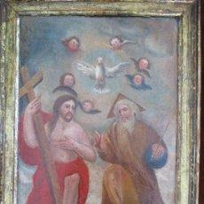 Arte: OLEO SOBRE TABLA SIGLO XVIII,RETABLO MARCO DE EPOCA. Lote 210054806