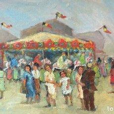 Arte: MARCEL VAN DE BEMPT. 1940. CIRCO. ÓLEO SOBRE TABLA 50 X 30 CM. Lote 210076215
