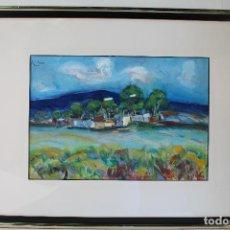 Arte: JOSÉ LUCAS - PAISAJE - ACRILICO S/PAPEL. Lote 210076728