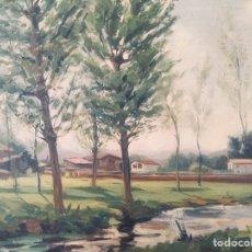 Arte: ESCUELA CATALANA DE OLOT. PAISAJE MODERNISTA. FIRMADO (MAS).. Lote 210164583