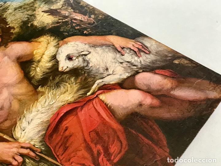 Arte: SAN JUAN BAUTISTA ÓLEO SOBRE TABLA MADERA CEDRO AGNUS DEI. ESCUELA ITALIANA SG XVIII - Foto 23 - 210188483