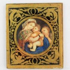 Arte: MINIATURA SOBRE MARFIL 6,5 CM DE DIÁMETRO. CRISTAL: 10X11,5 CM.. Lote 210190825