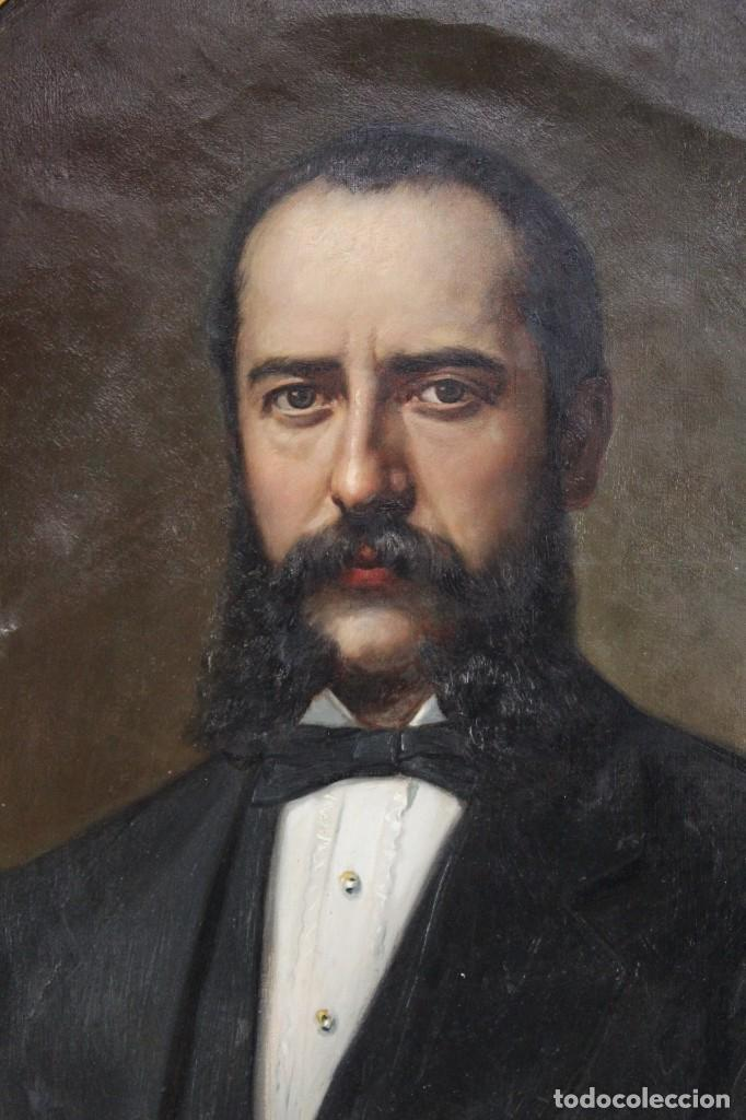 Arte: Pareja retratos Burguesía catalana. José Texidor Busquets - 1872 - Oil on canvas portraits - Foto 2 - 210197086
