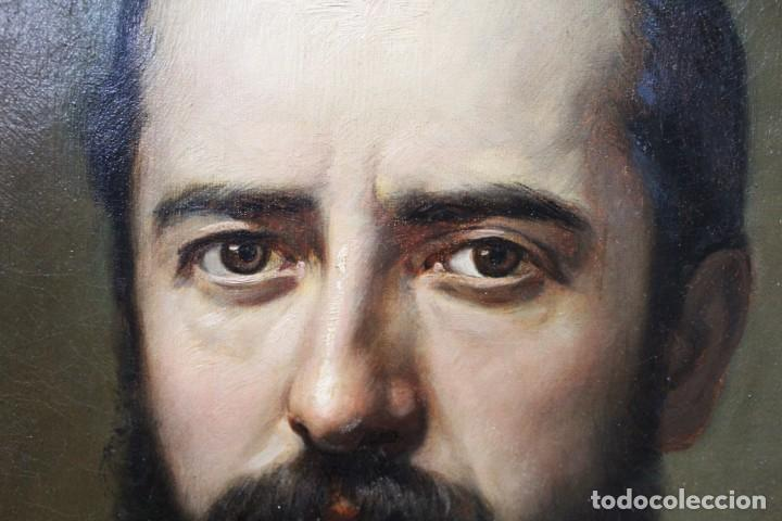Arte: Pareja retratos Burguesía catalana. José Texidor Busquets - 1872 - Oil on canvas portraits - Foto 5 - 210197086