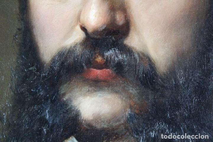 Arte: Pareja retratos Burguesía catalana. José Texidor Busquets - 1872 - Oil on canvas portraits - Foto 6 - 210197086