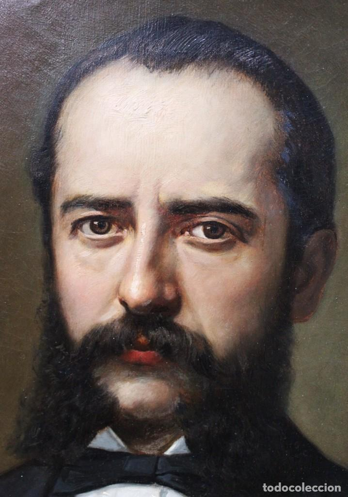 Arte: Pareja retratos Burguesía catalana. José Texidor Busquets - 1872 - Oil on canvas portraits - Foto 7 - 210197086