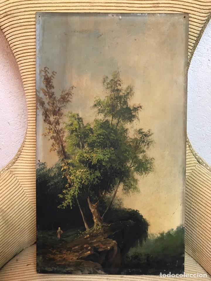 Arte: Pintura al óleo sobre tabla firmada por MERTIL con fecha en el año 1890 - Foto 2 - 210217627