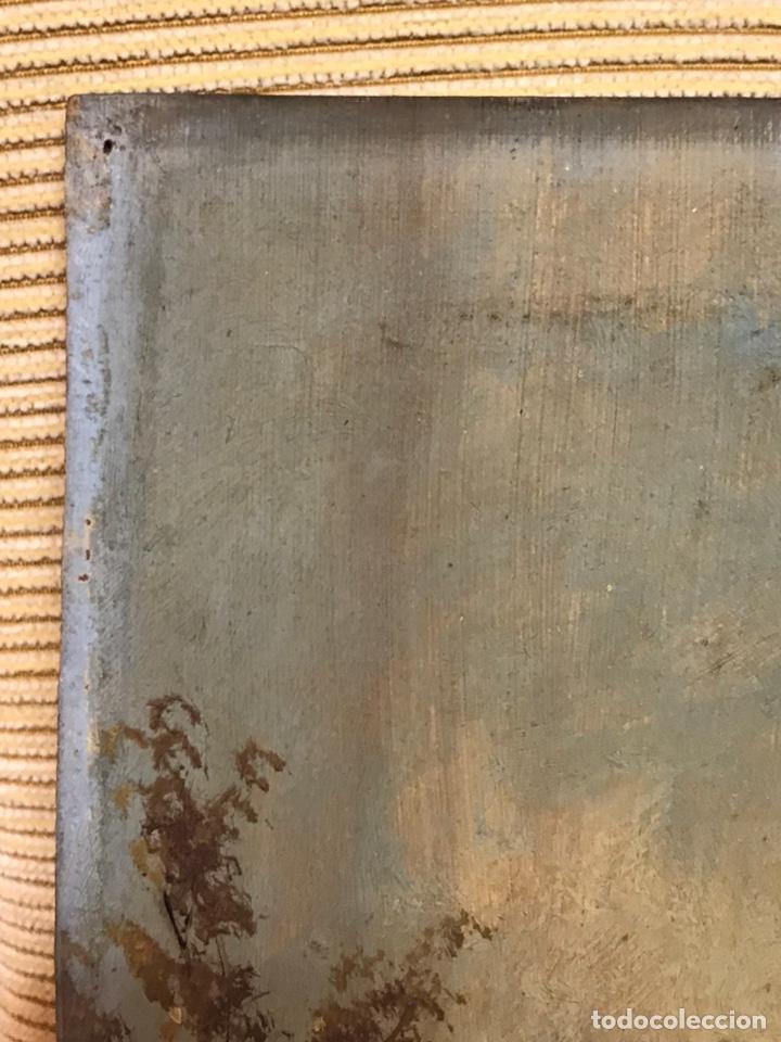 Arte: Pintura al óleo sobre tabla firmada por MERTIL con fecha en el año 1890 - Foto 3 - 210217627