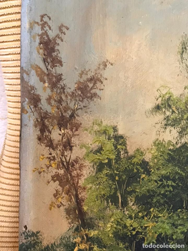 Arte: Pintura al óleo sobre tabla firmada por MERTIL con fecha en el año 1890 - Foto 6 - 210217627