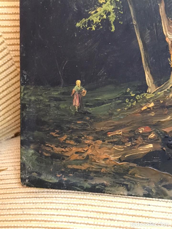 Arte: Pintura al óleo sobre tabla firmada por MERTIL con fecha en el año 1890 - Foto 9 - 210217627