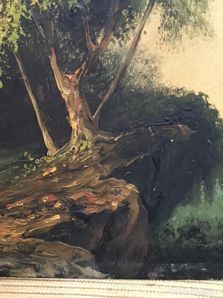 Arte: Pintura al óleo sobre tabla firmada por MERTIL con fecha en el año 1890 - Foto 10 - 210217627