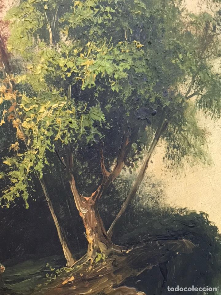 Arte: Pintura al óleo sobre tabla firmada por MERTIL con fecha en el año 1890 - Foto 11 - 210217627