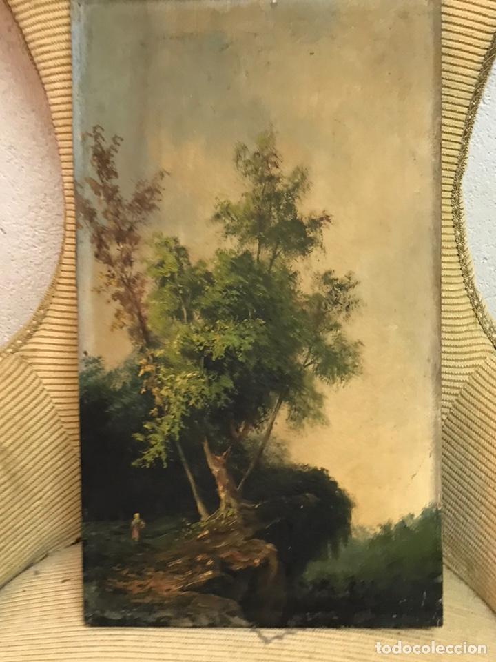 Arte: Pintura al óleo sobre tabla firmada por MERTIL con fecha en el año 1890 - Foto 18 - 210217627