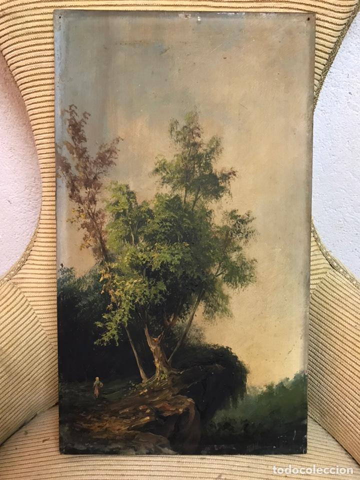 PINTURA AL ÓLEO SOBRE TABLA FIRMADA POR MERTIL CON FECHA EN EL AÑO 1890 (Arte - Pintura - Pintura al Óleo Moderna siglo XIX)