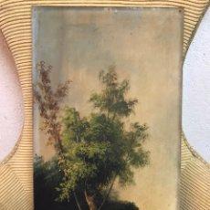 Arte: PINTURA AL ÓLEO SOBRE TABLA FIRMADA POR MERTIL CON FECHA EN EL AÑO 1890. Lote 210217627