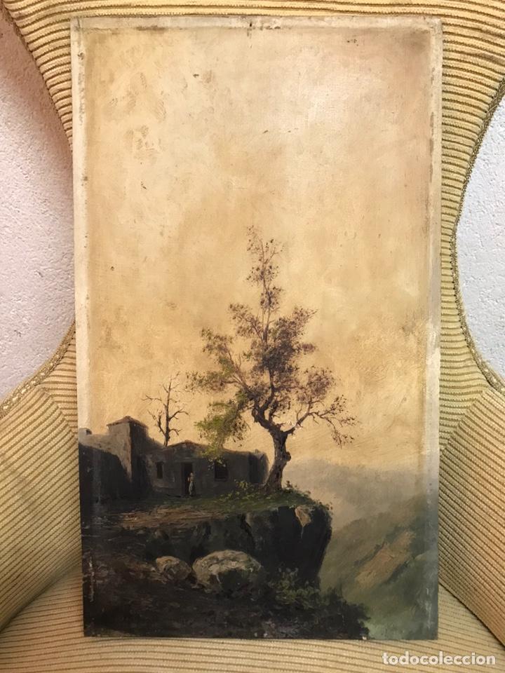 Arte: Pintura al óleo sobre tabla firmada por MERTIL con fecha en el año 1891 - Foto 2 - 210218401