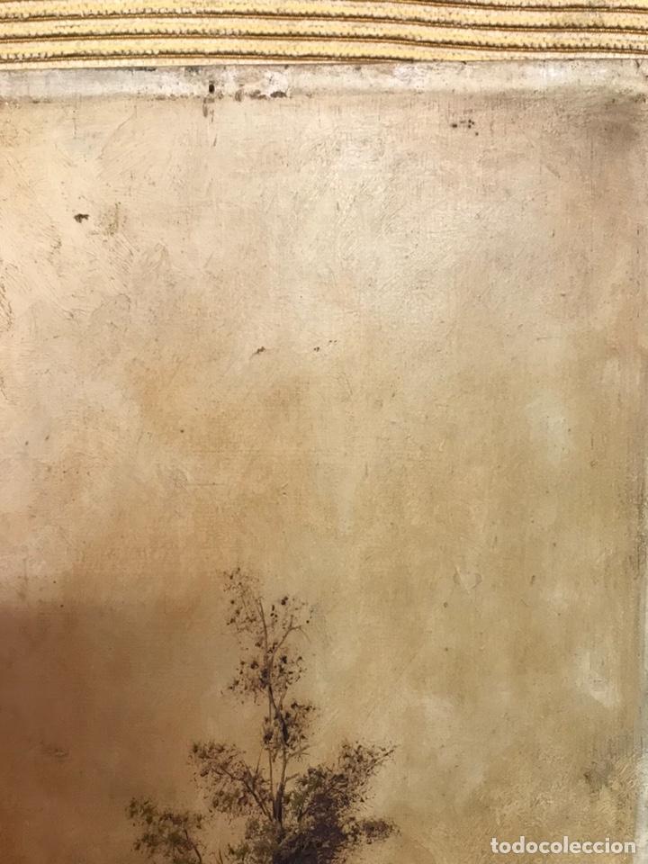 Arte: Pintura al óleo sobre tabla firmada por MERTIL con fecha en el año 1891 - Foto 4 - 210218401