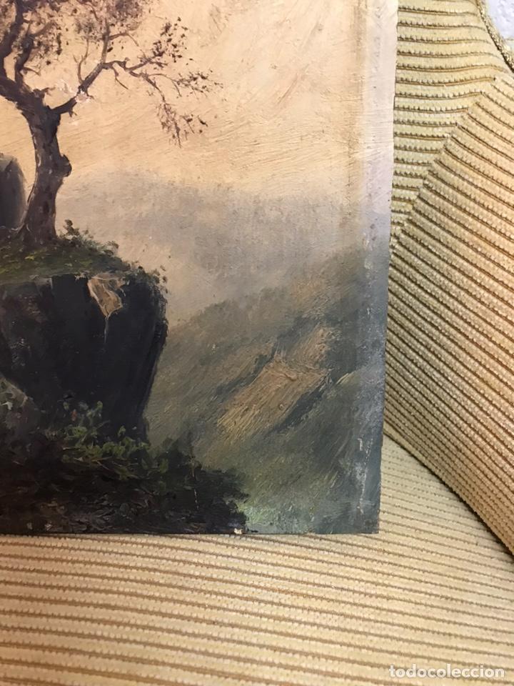 Arte: Pintura al óleo sobre tabla firmada por MERTIL con fecha en el año 1891 - Foto 6 - 210218401