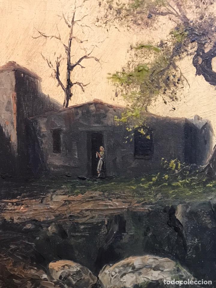 Arte: Pintura al óleo sobre tabla firmada por MERTIL con fecha en el año 1891 - Foto 8 - 210218401
