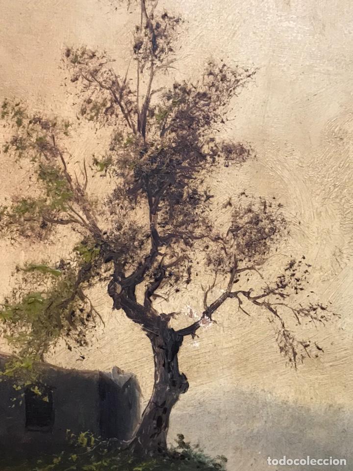Arte: Pintura al óleo sobre tabla firmada por MERTIL con fecha en el año 1891 - Foto 9 - 210218401