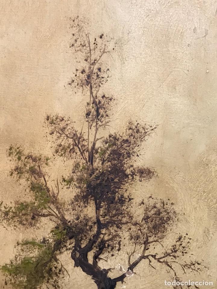 Arte: Pintura al óleo sobre tabla firmada por MERTIL con fecha en el año 1891 - Foto 10 - 210218401