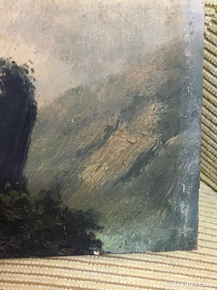 Arte: Pintura al óleo sobre tabla firmada por MERTIL con fecha en el año 1891 - Foto 11 - 210218401
