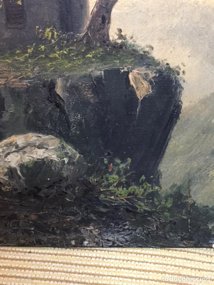 Arte: Pintura al óleo sobre tabla firmada por MERTIL con fecha en el año 1891 - Foto 12 - 210218401