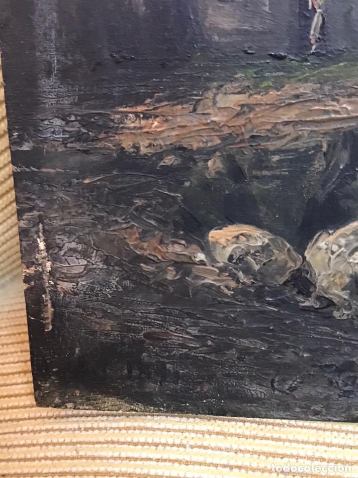 Arte: Pintura al óleo sobre tabla firmada por MERTIL con fecha en el año 1891 - Foto 13 - 210218401
