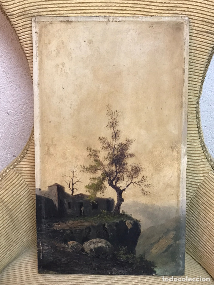 Arte: Pintura al óleo sobre tabla firmada por MERTIL con fecha en el año 1891 - Foto 14 - 210218401
