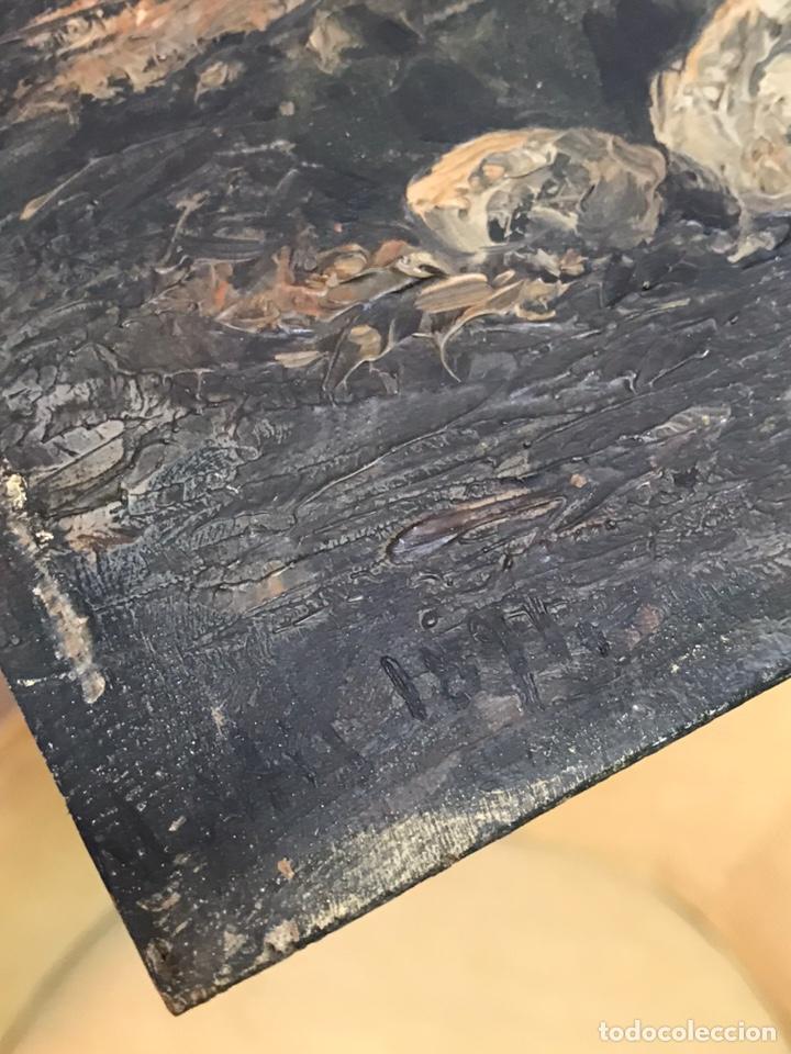 Arte: Pintura al óleo sobre tabla firmada por MERTIL con fecha en el año 1891 - Foto 17 - 210218401