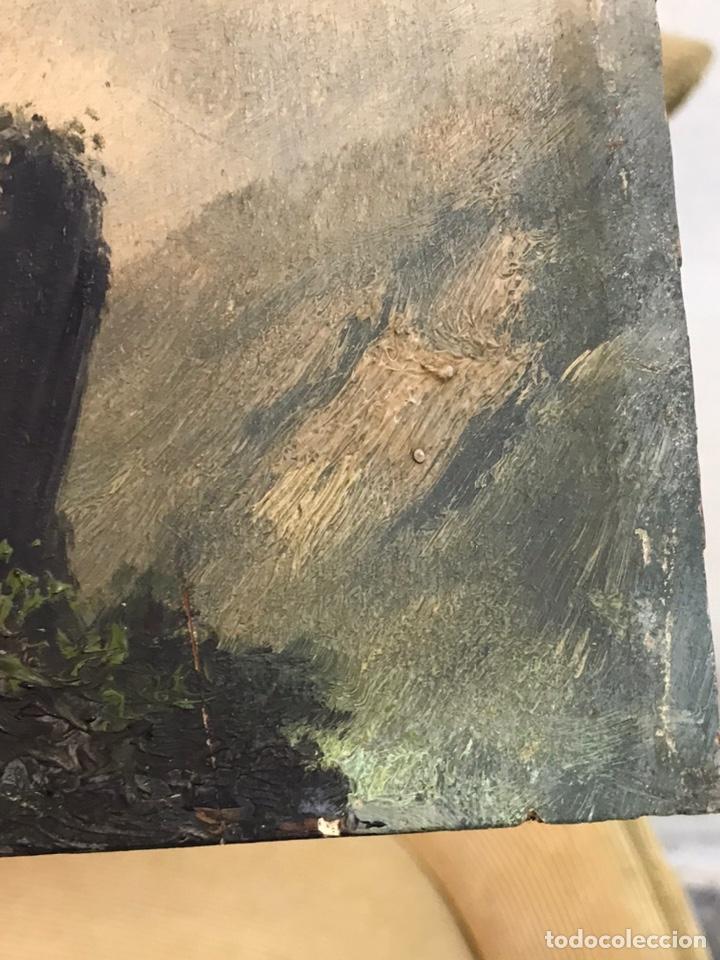 Arte: Pintura al óleo sobre tabla firmada por MERTIL con fecha en el año 1891 - Foto 18 - 210218401