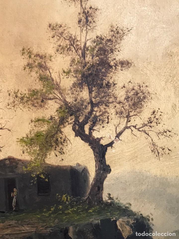 Arte: Pintura al óleo sobre tabla firmada por MERTIL con fecha en el año 1891 - Foto 19 - 210218401