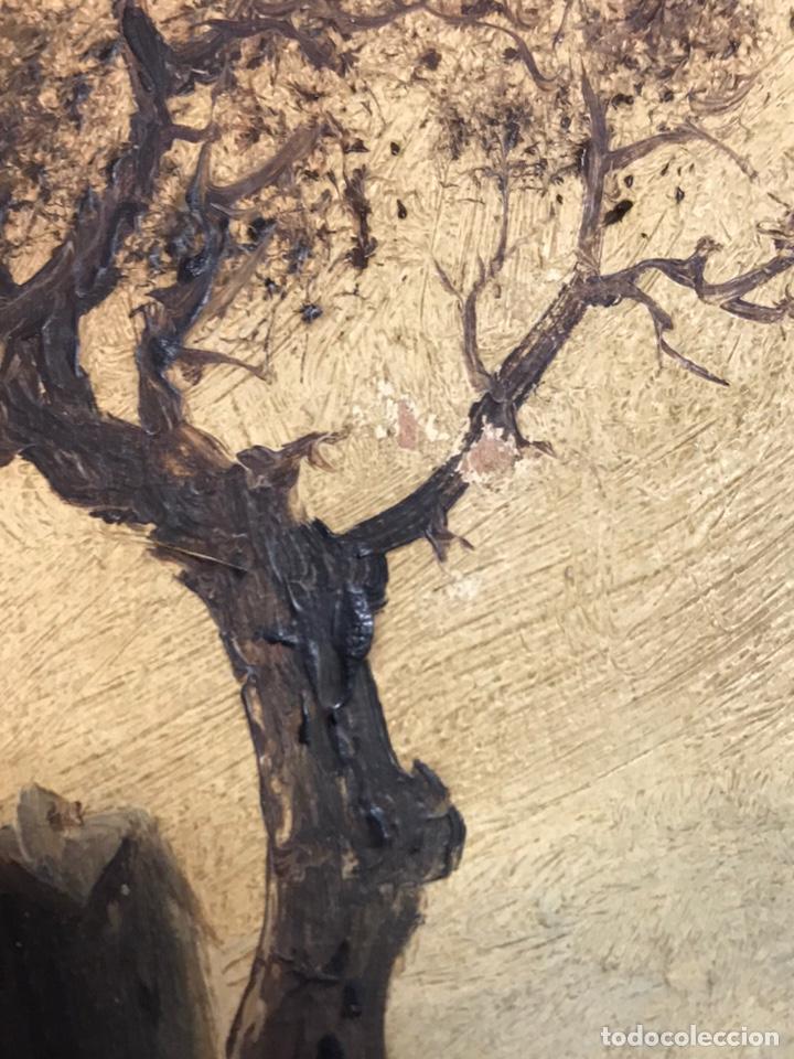 Arte: Pintura al óleo sobre tabla firmada por MERTIL con fecha en el año 1891 - Foto 20 - 210218401